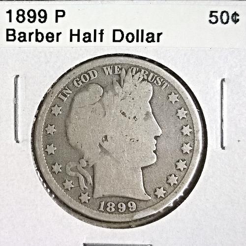 1899 P Barber Half Dollar - 6 Photos!