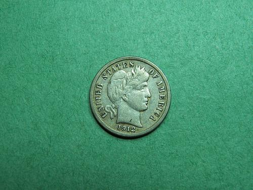 1912 P Barber Dime Very Fine Coin   R63