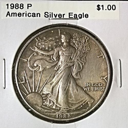 1988 P American Silver Eagle - 6 Photos!