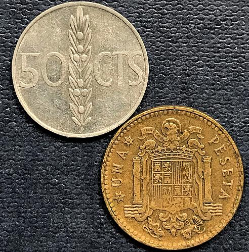 Spain 1966 (1967) = 1 Peseta and 50 Centimos