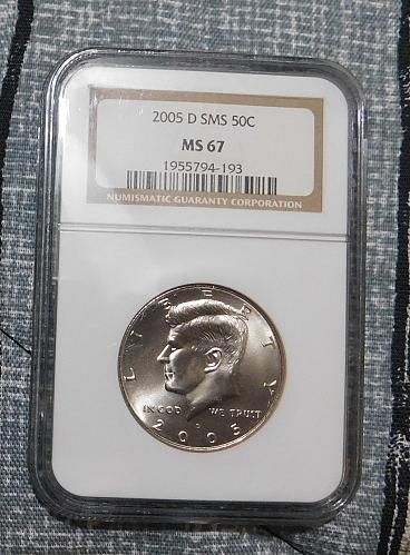 2005 D KENNEDY HALF DOLLAR, NGC MS67