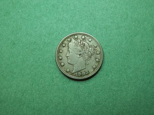 1903 Liberty V Nickel Very Fine Coin   R64