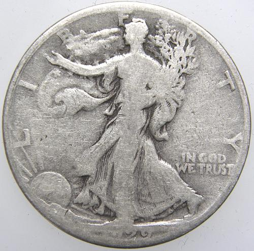 1929 S Walking Liberty Half Dollar #7