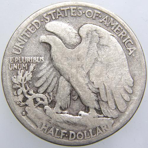 1929 S Walking Liberty Half Dollar #7