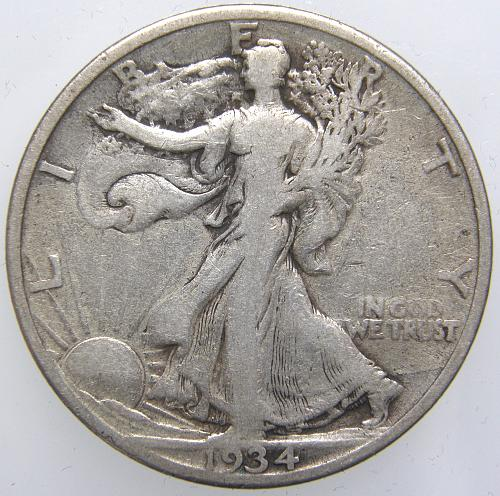1934 S Walking Liberty Half Dollar #6