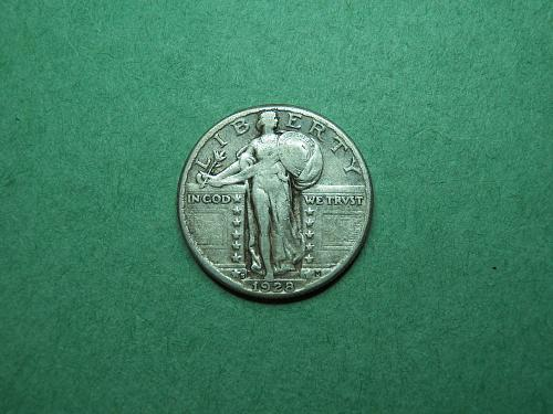 1928 S Standing Liberty Quarter Very Fine Coin   R72