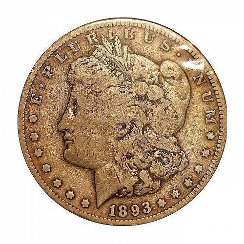 1893 CC Morgan Silver Dollar - F / Fine