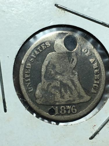 1876 Seated Liberty Dime Item 1018443