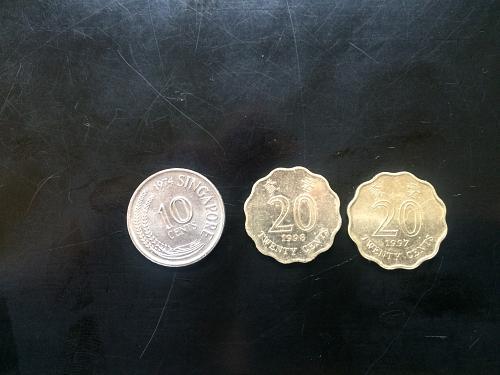 HONG KONG AND SINGAPORE COINS