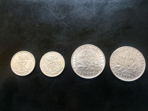 DENMARK AND FRANCE COINS
