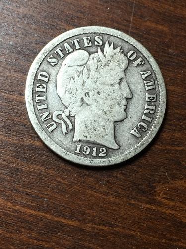 1912 Barber Dime Item 1018446