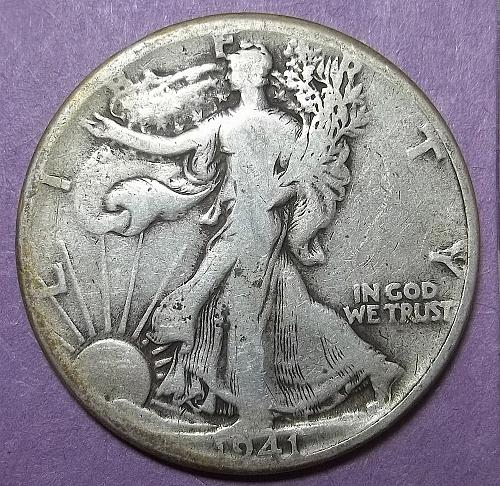 1941 P Walking Liberty Half Dollar LotWHDwh