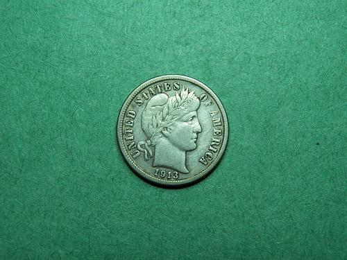 1913 P Barber Dime Very Fine Coin   R93