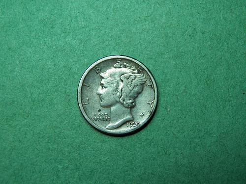 1920 D Mercury Dime Very Fine Coin   S01