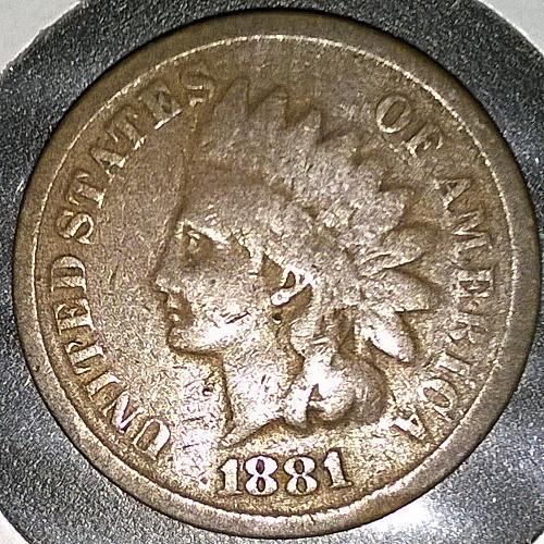1881 P Indian Head Cent - 6 Photos!