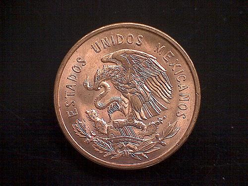 1955 MEXICO TEN CENTAVOS