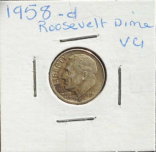 1958 D Roosevelt Dime