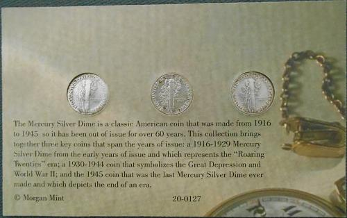 Mercury Silver Dime Collection