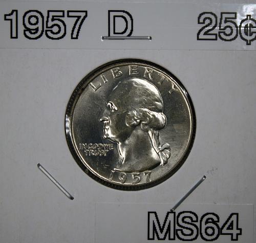 1957 D Washington Quarter