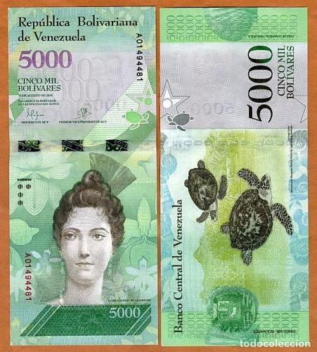 VENEZUELA 5000 BOLIVARES OUT OF CIRCULATION x500Pcs