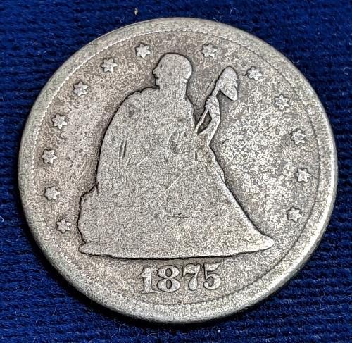 1875CC  GOOD TWENTY CENT PIECE,