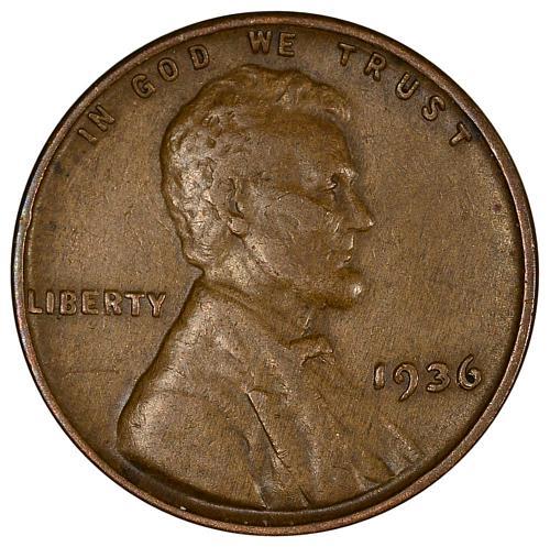 $0.01 1936 DDO Lincoln Cent XF - ToughCOINS