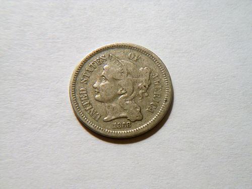 1868 3 Cent Nickel