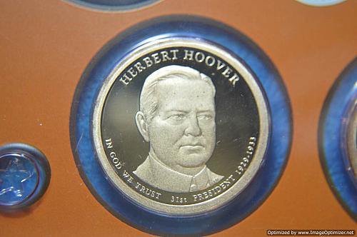 2014 S Presidential Dollars: Herbert Hoover Proof