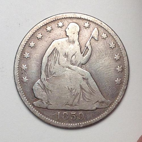 1859-O Seated Liberty Half Dollar [EHDL 2]