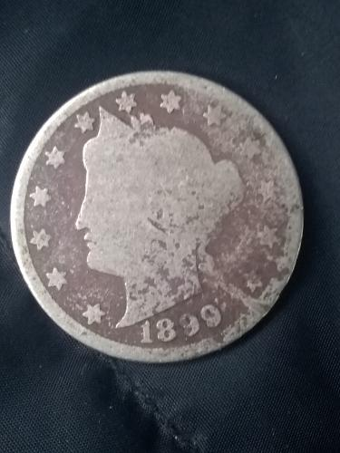 1899 liberty nickel in good condition