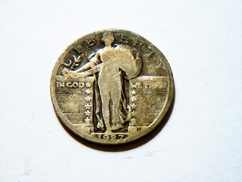 1927-S *Toned* Silver Standing Liberty Quarter