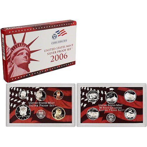 2006-S 10 Coin United States Silver Proof Set w/box & COA