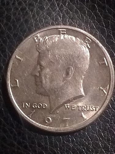1971 D Kennedy half dollar DDO