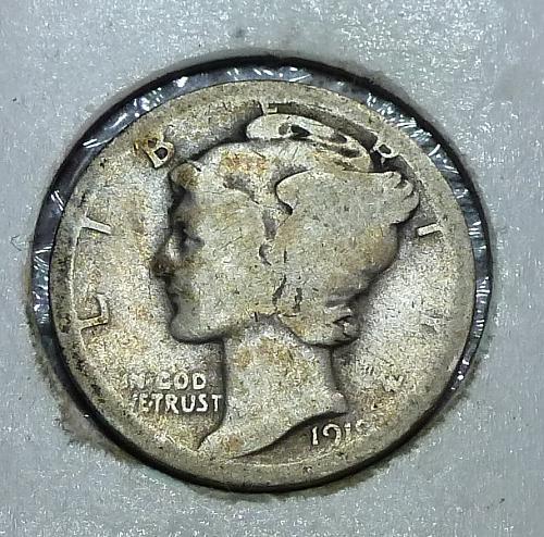 1919-D Mercury Dime   ( H12418)