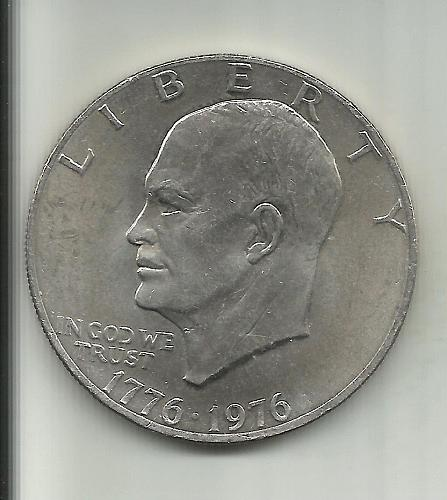 TEN (10) 1976 P  EISENHOWER  DOLLAR'S