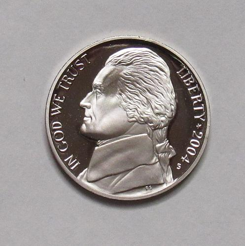 2004 S Proof Jefferson Nickel: Peace Medal