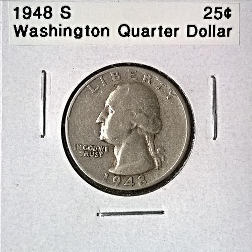 1948 S Washington Quarter Dollar - 6 Photos!