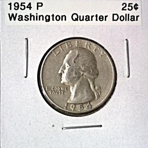 1954 P Washington Quarter Dollar - 6 Photos!