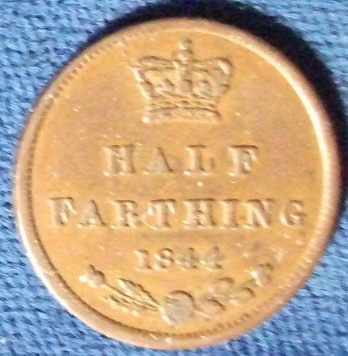 1844 Great Britain Half Farthing XF