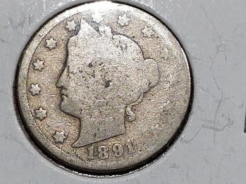 1891 P Liberty Nickel