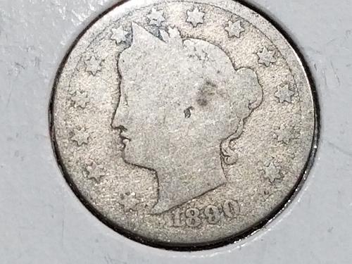 1890 P Liberty Nickel