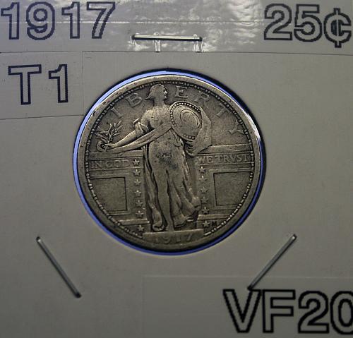 1917 T1 Standing Liberty Quarter