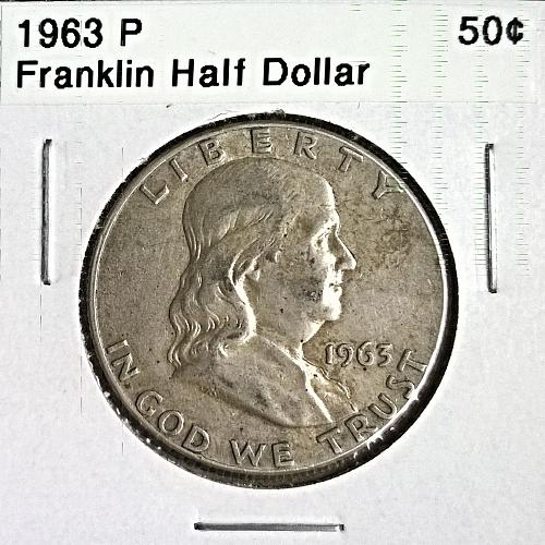 1963 P Franklin Half Dollar - 6 Photos!