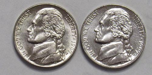 1997 P&D Jefferson Nickels in BU