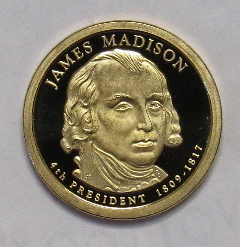 2007 S Proof Presidential Dollar: James Madison