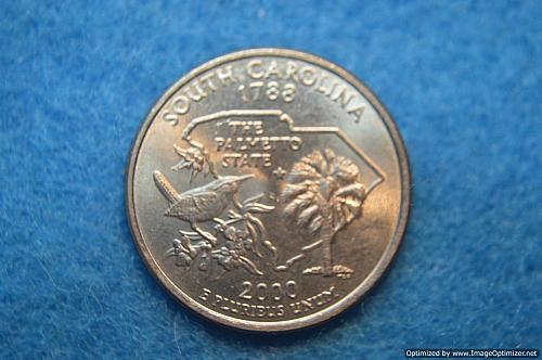 2000 D South Carolina 50 States and Territories Quarters