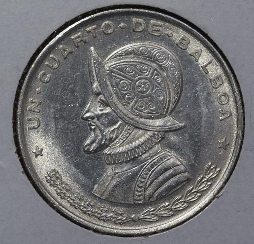 1961 Panama 1/4 Balboa .900 Silver