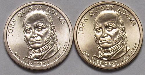 2008 P&D Presidential Dollars: John Quincy Adams in BU