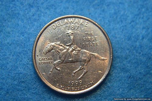 1999 P Delaware 50 States and Territories Quarters