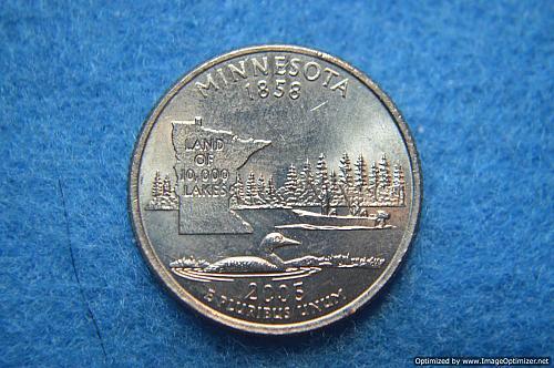 2005 D Minnesota 50 States and Territories Quarters